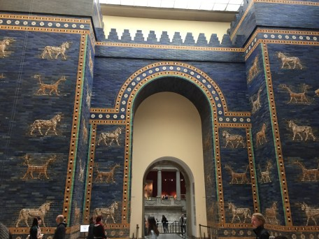This is Ishtar Gate of Babylon and Carmela's reason for living. It was built in the 6th century BC. AKA a very long time ago.