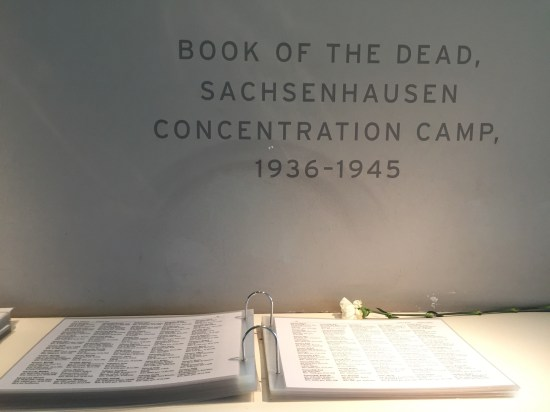 A book of the names of every person who died in the camp.