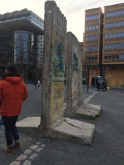 After leaving the camp we explored more of Berlin. Pieces of the Berlin wall can be found all over the city.