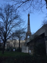 Our first look at the Eiffel Tower