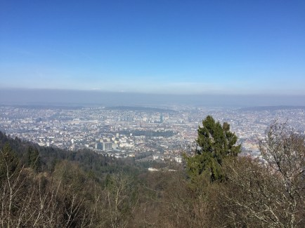 """We decided to """"hike"""" up to see the city from the local mountain nearby. (It wasn't much of a hike because we took a train up to the top. We just had to walk a little bit farther)"""