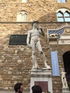 I didn't want to pay 30 euros to see the real David... But I got to see a replica of it instead!