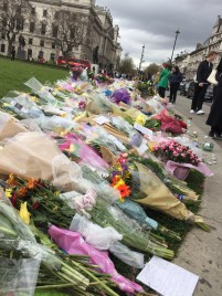 There was a memorial outside of Big Ben and the Westminster Abbey for the terrorist attack that had just happened less than 2 weeks prior to our trip.