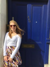 "Grace REALLY wanted to see this Blue Door. It's from ""Notting Hill"" (I think). I've never seen it, but she was excited to be there."