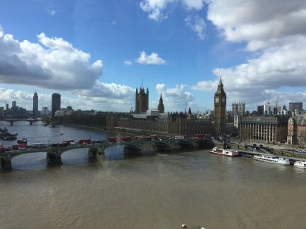 Big Ben and the British Parliament from the eye.