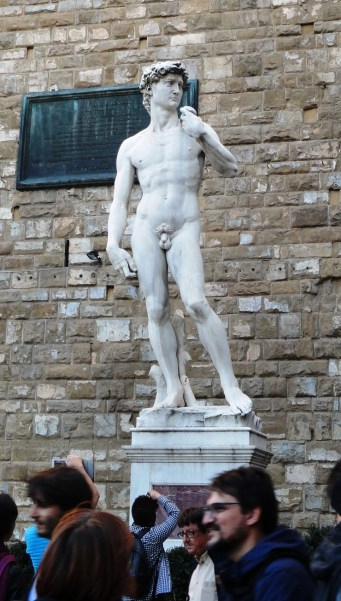 "the ""fake outside"" David statue"