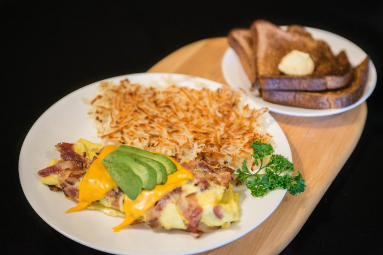 Best breakfast specials in Orange County, CA. Viewing a signature egg omelet.