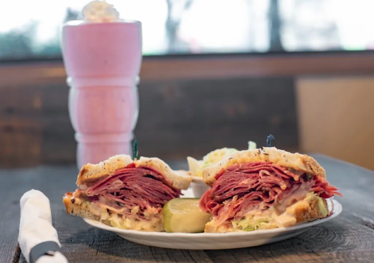 Benjies Special is a rueben sandwich, coleslaw and Russian dressing.