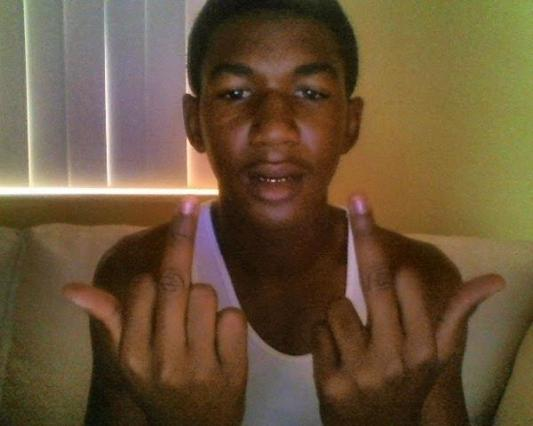 Trayvon Martin, closer in time to his fatal encounter.