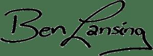 Ben Lansing signature