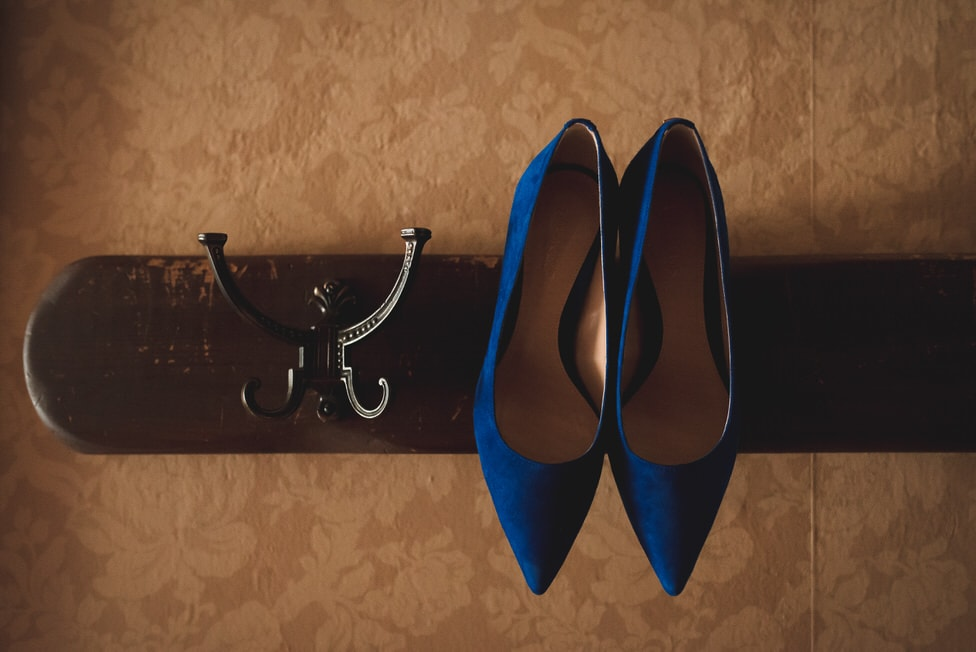 royal blue bridal heels