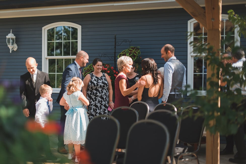 family gathers before micro wedding ceremony