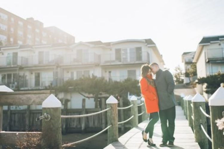 Red Bank engagement session captured by North Jersey wedding photographer Ben Lau.