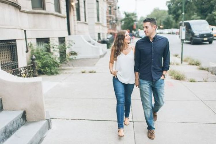 Brooklyn engagement session captured by NYC wedding photographer Ben Lau.
