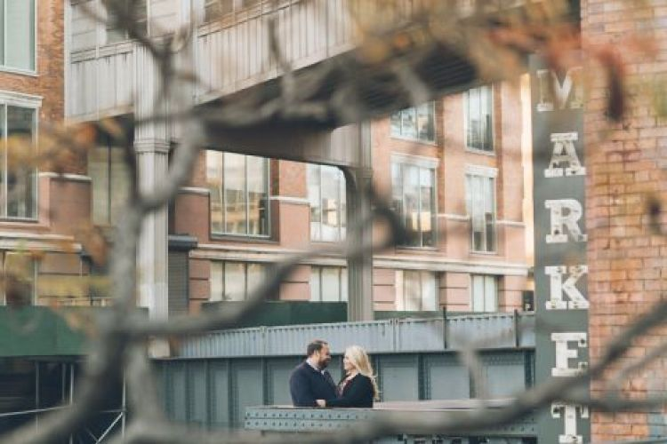 NYC engagement session in Meatpacking, High Line Park, Chelsea and West Village - captured by fun, photo documentary NYC wedding photographer Ben Lau.