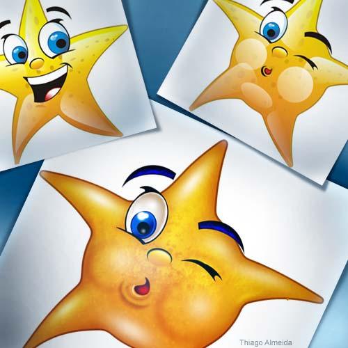cartoon estrela do mar estrelinha ideiavip ideia vip Ilustração desenho freehand