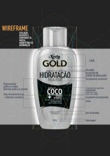 Wireframe design gráfico de produto - Arquitetura da informação proporção áurea grid e diagonais para Niely Gold da L'Oreal