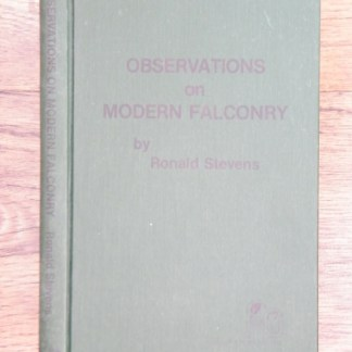 book Observations on Modern Falconry by Ronald Stevens