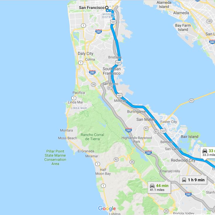 SF to Palo Alto