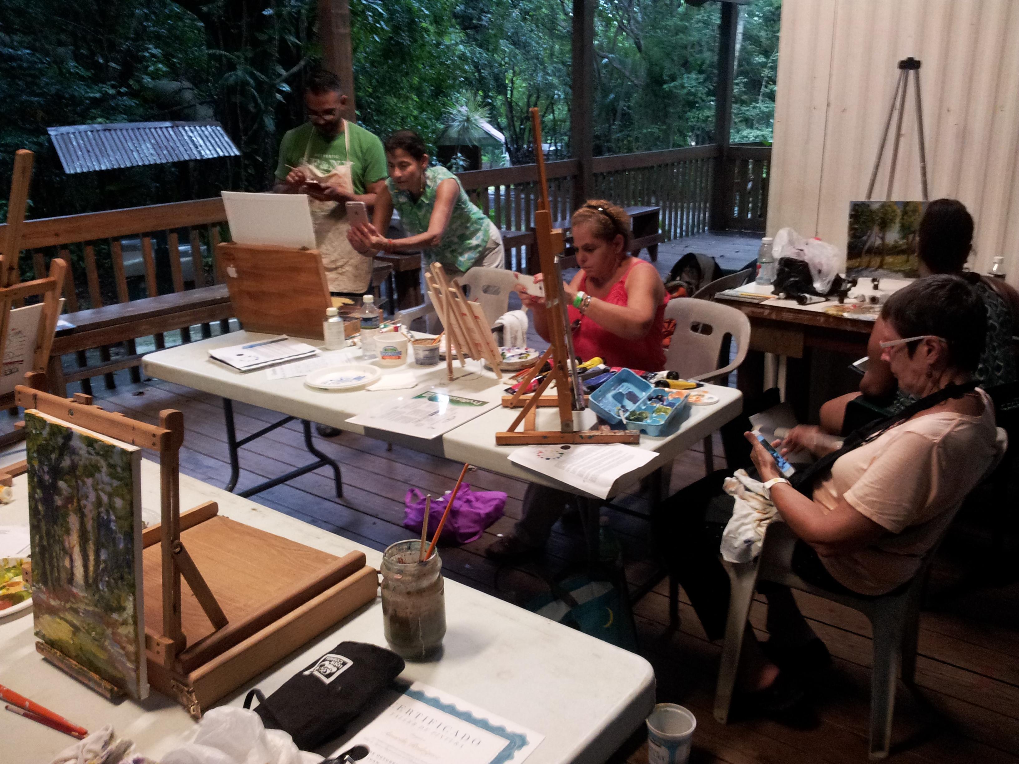 Finaliza Primer Taller de Pintura Impresionista en el Bosque San Patricio