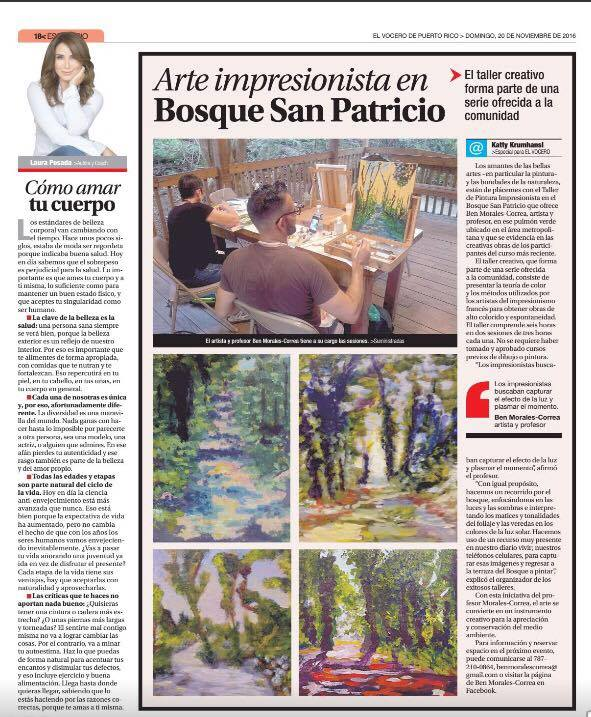 Publicado en El Vocero: Edición Domingo 20 de noviembre de 2016