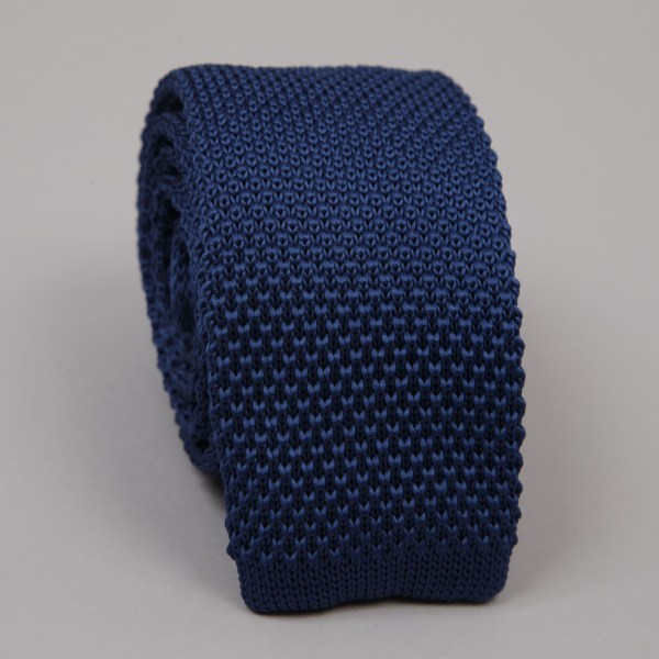 Cravate Tricot Bleu