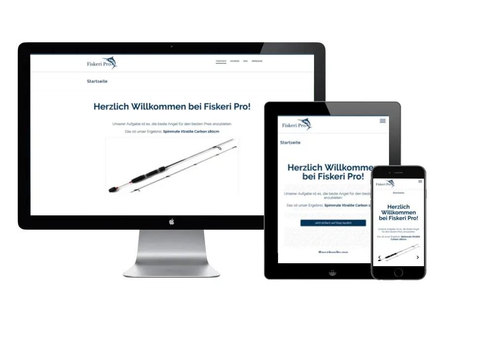 Webseitenerstellung für Fiskeri Pro