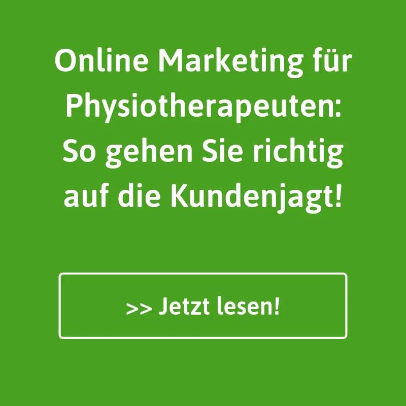 Online Marketing und mehr Kunden für Physiotherapeuten.