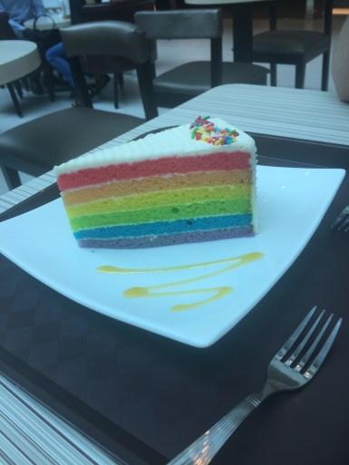 It said rainbow cake. I got excited. It didn't taste very good..