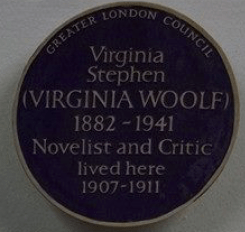 Virginia Woolf lived here.