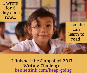 keep going with the writing streak!