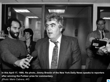 Jimmy Breslin, newly minted Pulitzer Prize winner