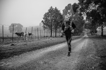 Trail runners challenge themselves over a 400km non-stop trail route in the inaugural Munga Trail race from Belfast in South Africa to the Blyderiver Canyon.