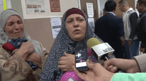 The mother of one of the young victims  CREDIT: Screenshot of Al-Quds video