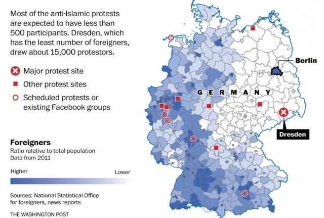 pegida immigrants map