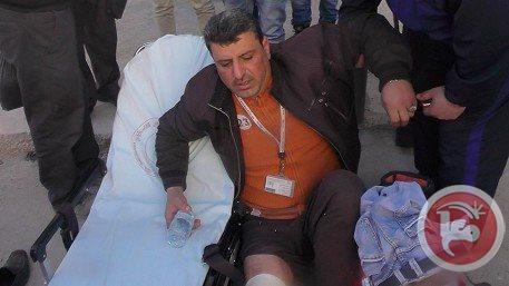 Arab-Israeli BTselem photographer Raed Jihad Abu Rmeila was run over by an Israeli settler on 1 February 2015  CREDIT: Maan
