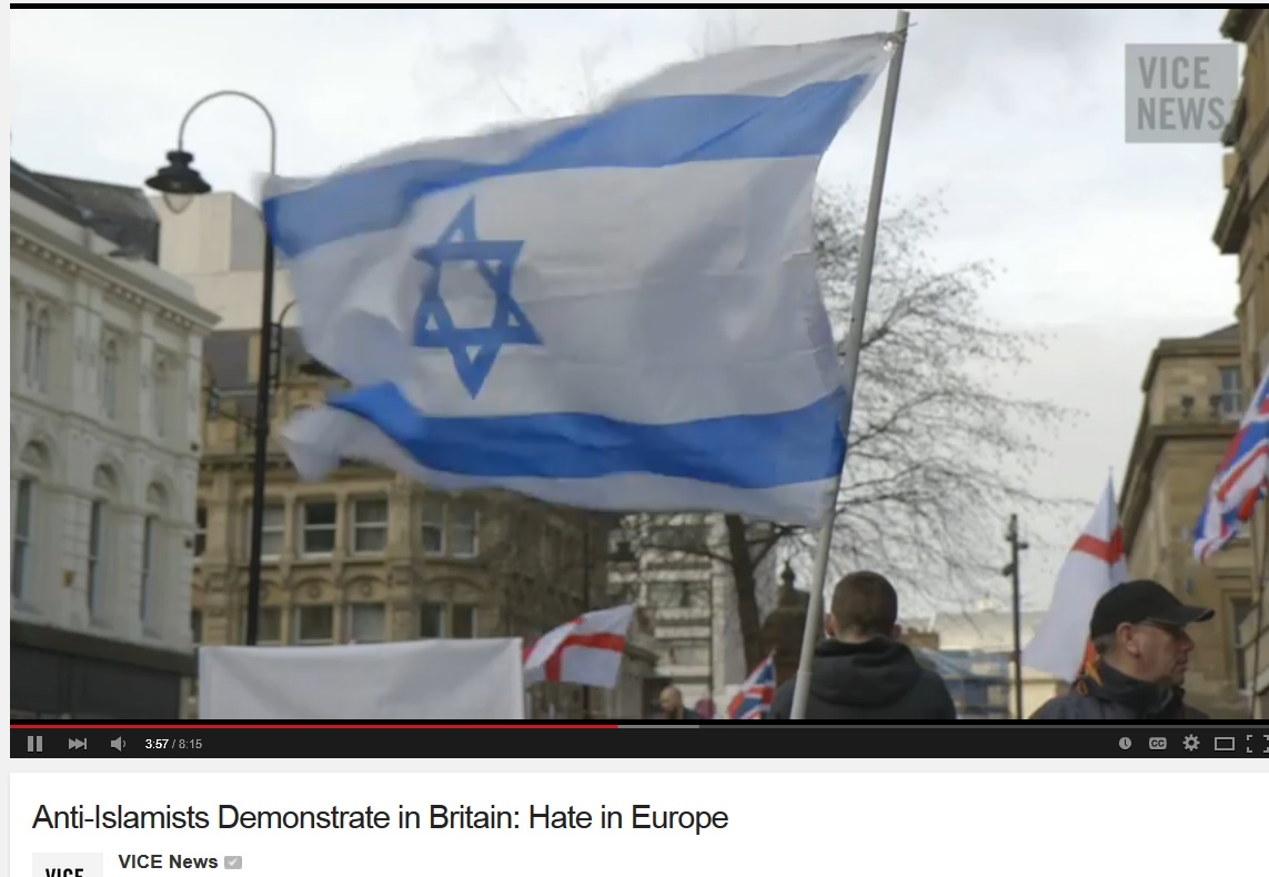 pegida uk vice israel flag 2