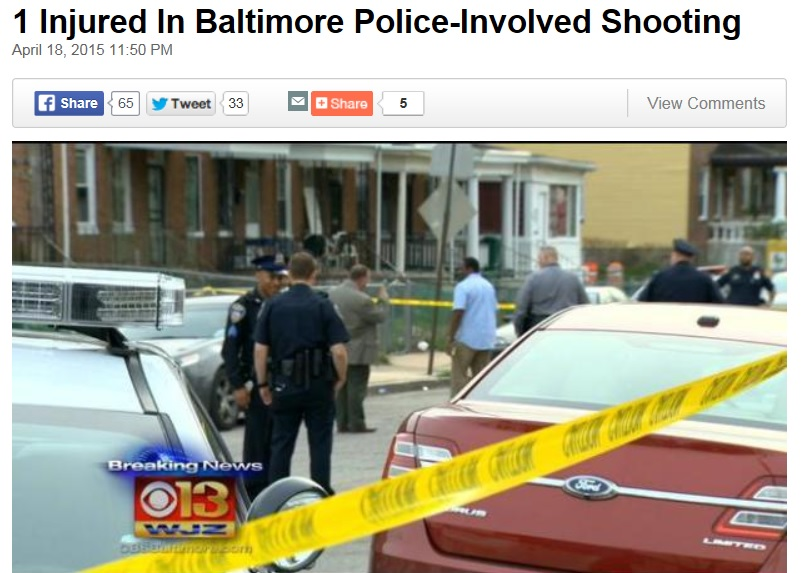 Report on Baltimore Police Shooting Is Textbook Example of How to Not Write Journalism
