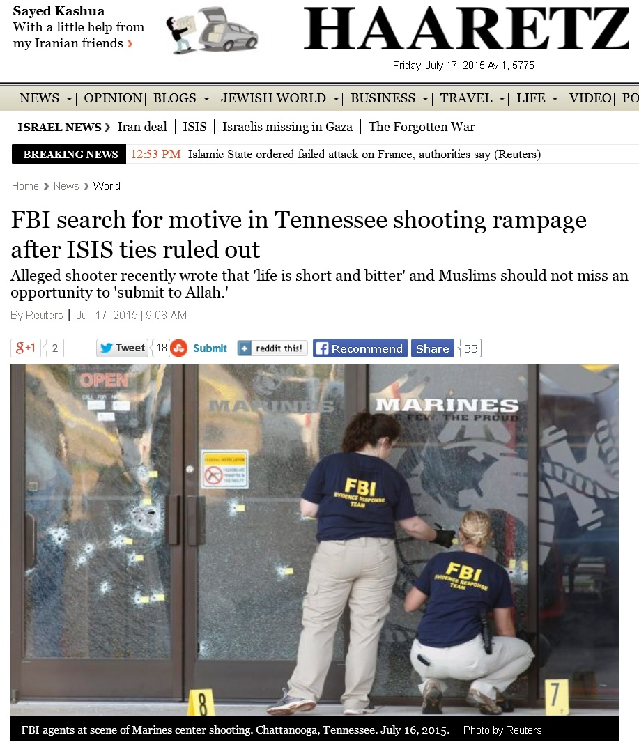 chattanooga shooting no isis ties