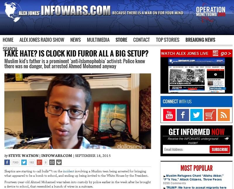 infowars clock kid furor