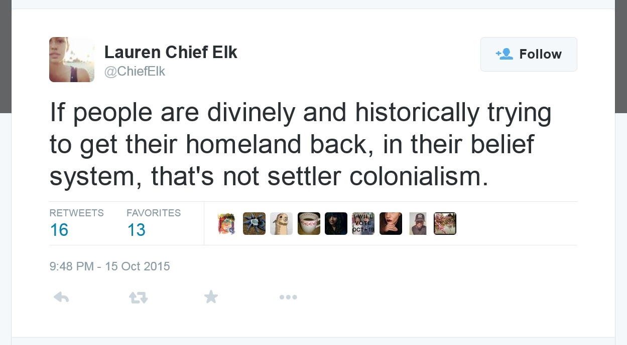 Identity politics leader says Zionism is not colonialism. The founder Herzl said otherwise