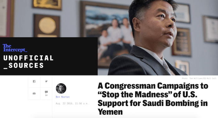 Congressman Ted Lieu's quest to 'stop the madness' of US support for Saudi bombing in Yemen