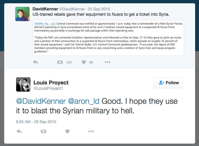 louis proyect al-nusra twitter