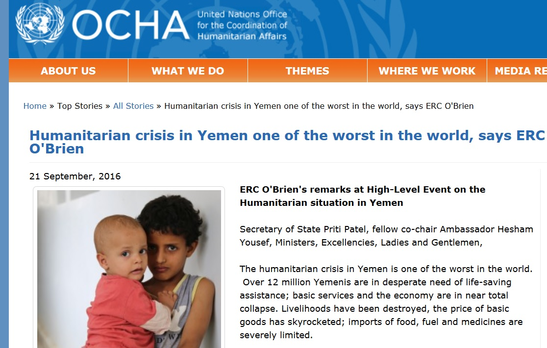 "Yemen enduring ""largest humanitarian crisis in the world,"" UN has repeatedly warned"