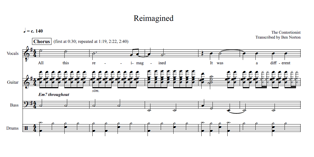 Asymmetrical Hypermeter in The Contortionist's 'Reimagined'