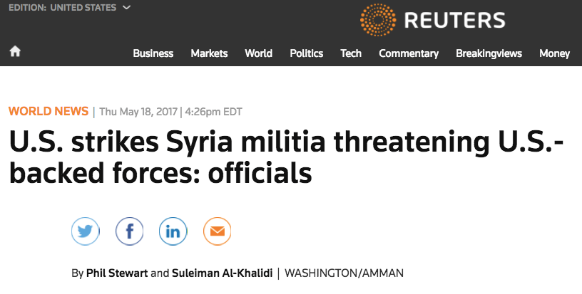 US bombs Syrian gov-aligned forces 4 times in 9 months and media asks few questions