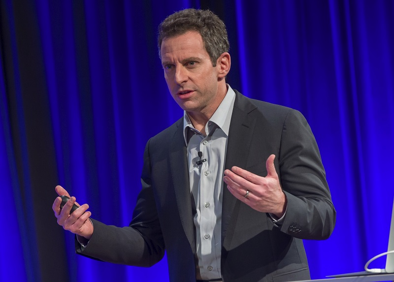 "Echoing fascists, Sam Harris wants to ""keep the number of Muslims down in any society,"" to keep culture ""enlightened"""