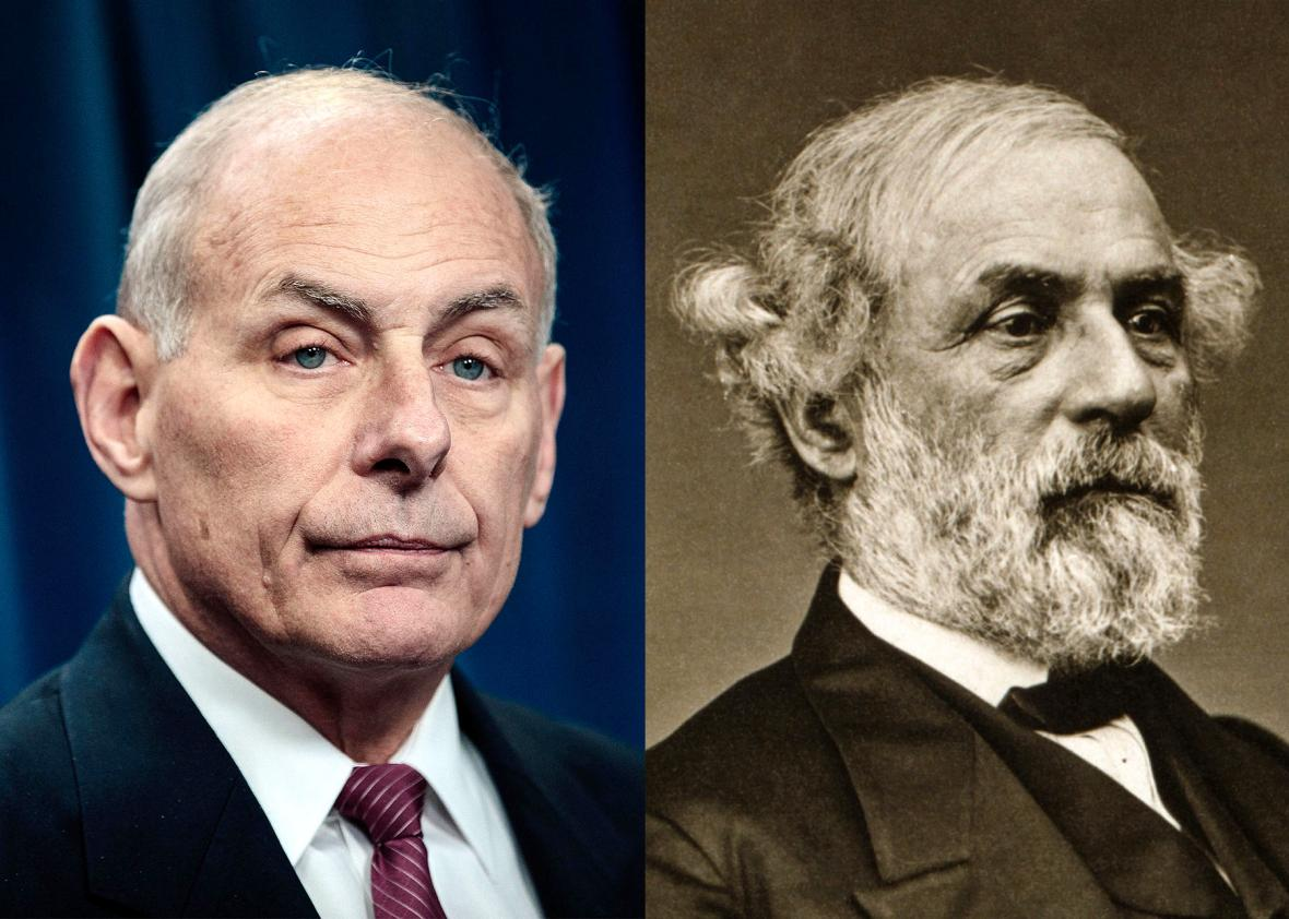 """Moderate"" John Kelly compliments slavery-defending Confederate General Robert E. Lee after media lionized him"