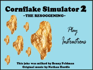 Cornflake Game Main Screen by Benny