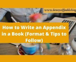 Write an Appendix